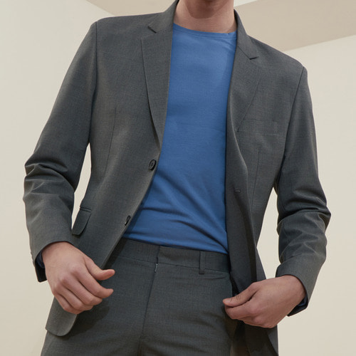 [MONOSEWING] WOOL SET-UP JACKET(GRAY)