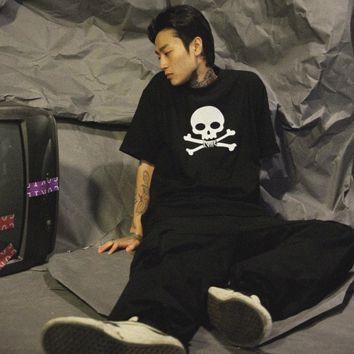 [COKIE]SKULL T -  BLACK