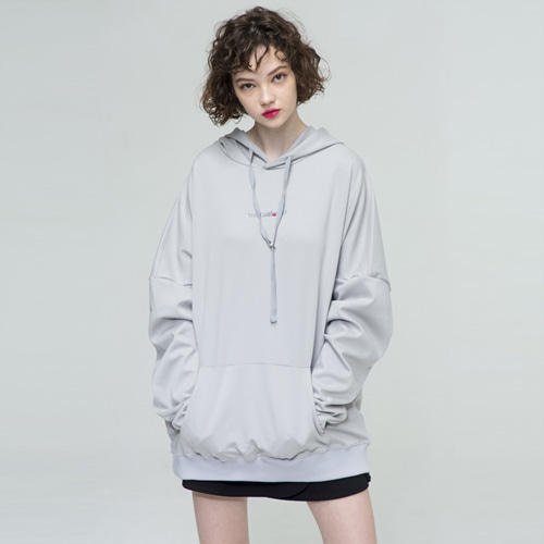 [THE GREATEST] GT18SS03 OVERSIZE HOODIE GRAY
