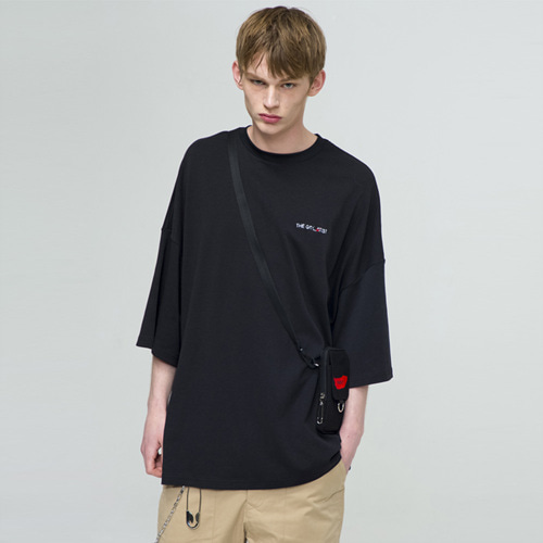 [THE GREATEST] GT18SS04 OVERSIZE T-SHIRTS BK