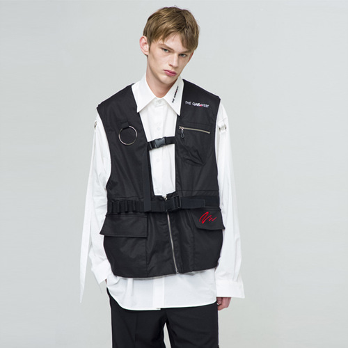 [THE GREATEST] GT18SS05 VEST BK