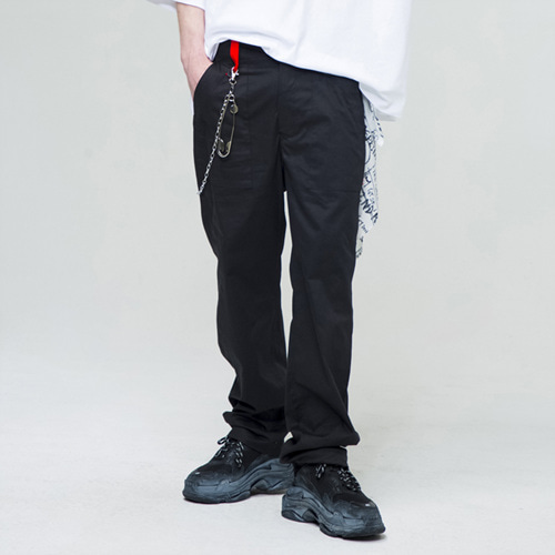 [THE GREATEST] GT18SS09 COTTON PANTS BK