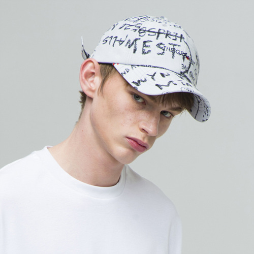 [THE GREATEST] GT18SS14 PASTEL BALLCAP WHITE