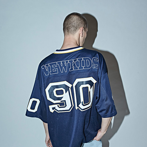 [DBSW] 90's Football Jersey Pullover NAVY
