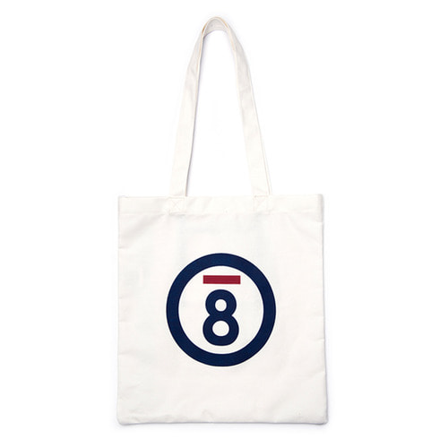 [Bornchamps]BC LOGO ECO BAG WHITE CERFMBG15WH