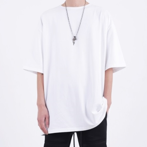 [Nar_Yoke] Super Overfit T-Shirt - White