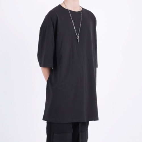[Nar_Yoke] Super Overfit T-Shirt - Black