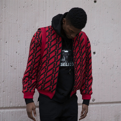 [KILIJARO]PATTERN REPEAT TERRY JACKET - RED