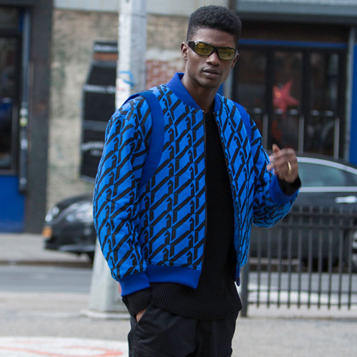 [KILIJARO]PATTERN REPEAT TERRY JACKET - ROYAL BLUE