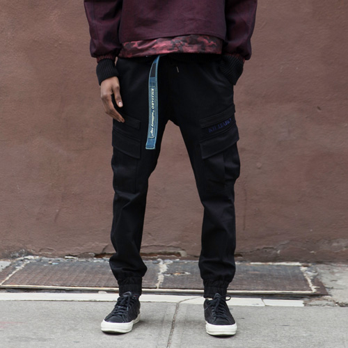 [KILIJARO]DENIM JOGGER PANTS FOR ALL - BLACK