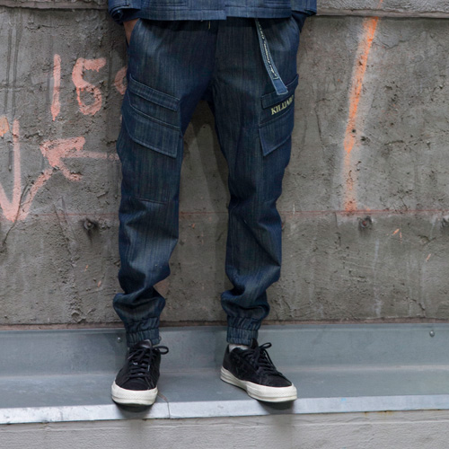[KILIJARO]DENIM JOGGER PANTS FOR ALL - BLUE