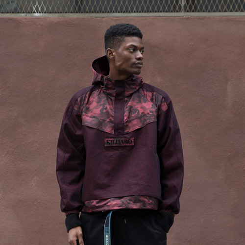 [KILIJARO]DENIM MIXED ANORAK - RED