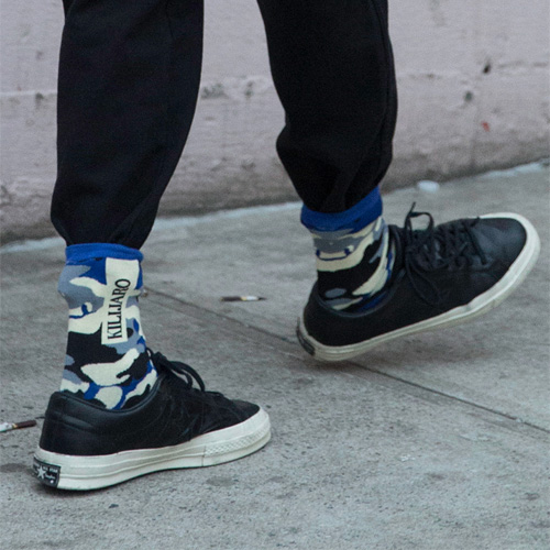 [KILIJARO]CAMOUFLAGE SOCKS - ROYAL BLUE