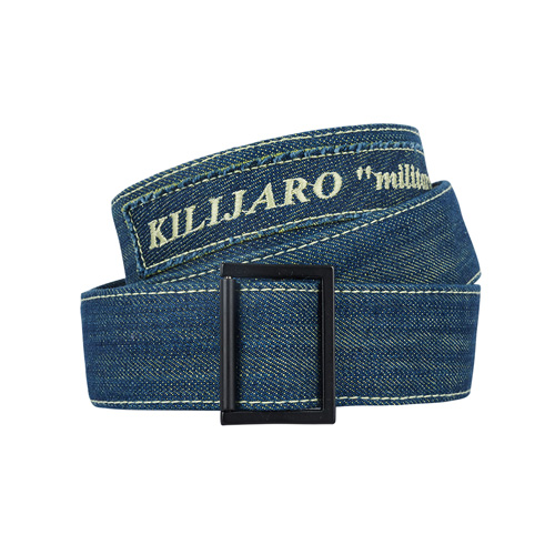 [KILIJARO]MILITARY DENIM VELCRO BELT