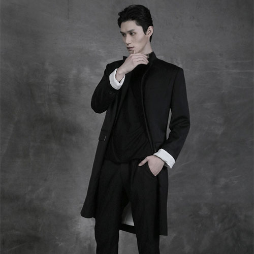 [AUFSTAND] Signature Long Blazer - Black