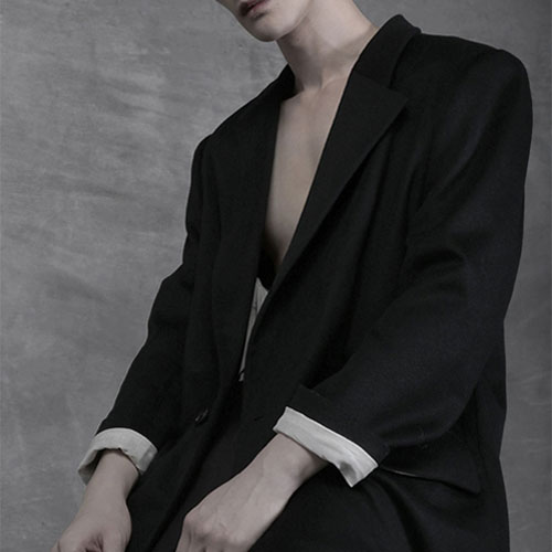 [AUFSTAND] Oversized Long Coat - Black