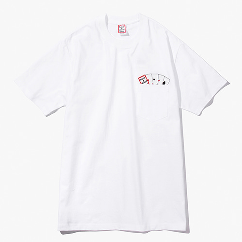 [Have a good time] Playing Card Pocket Tee - White
