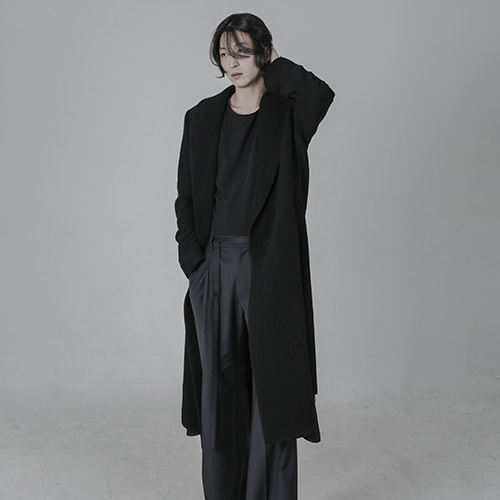 [AUFSTAND] Cutting Detailed Long Coat - Black