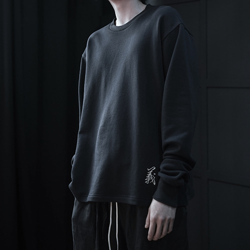 [AUFSTAND] Embrodidery Sweat Shirts - DarkNavy