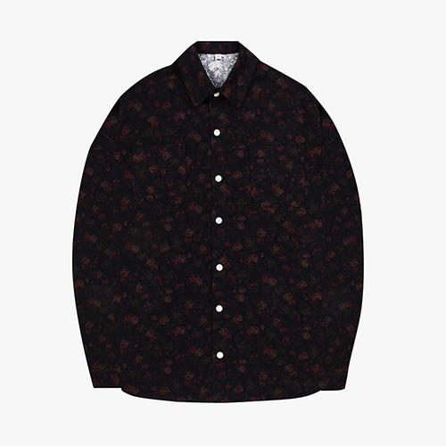 [OROR] R1-002 FLOWER SHIRTS - BLACK