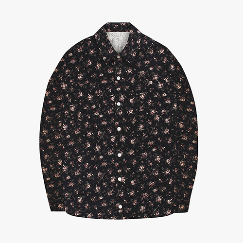 [OROR] R1-003 FLOWER CORDUROY SHIRTS - BLACK