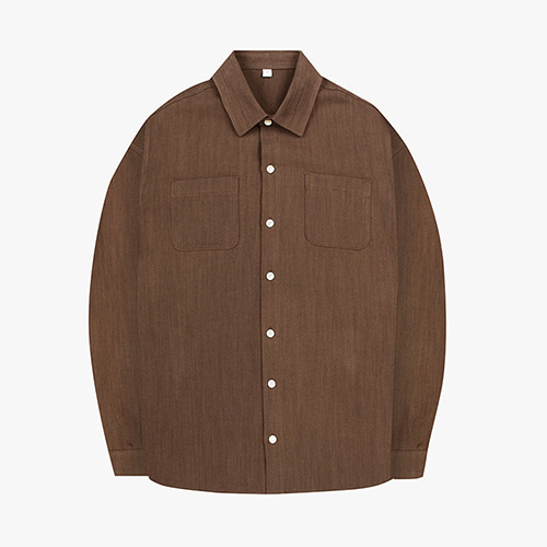 [OROR] R1-005 LINEN SHIRTS -  BROWN