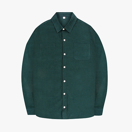 [OROR] R1-007 CORDUROY 28 SHIRTS - DARK GREEN