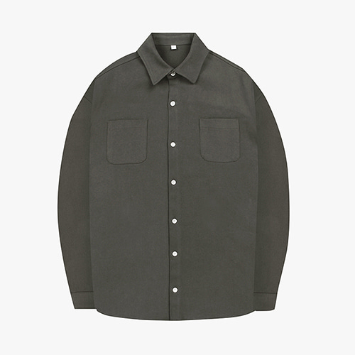 [OROR] R1-010 OUTER SHIRTS - KHAKI GRAY