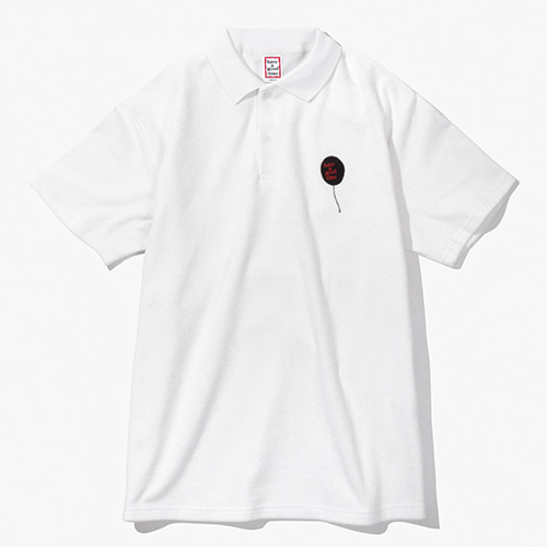 [Have a good time] Balloon Terry Shirts - White