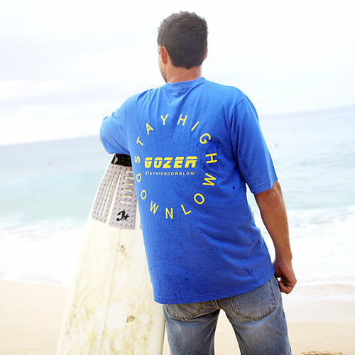 [GOZER] CIRCLE LOGO T-SHIRT_BLUE