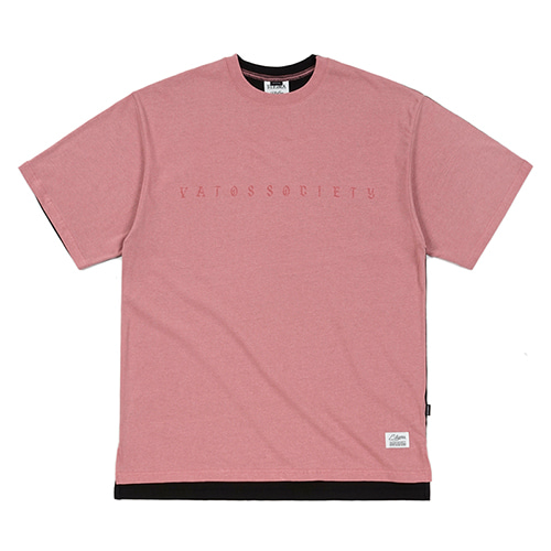 [STIGMA]FRONT BACK OVERSIZED PIGMENT T-SHIRTS - PINK