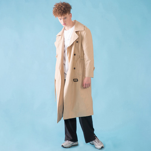 [DUCK DIVE]O.S.L TRENCH COAT _ LIGHT BEIGE