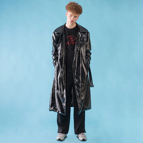 [DUCK DIVE]O.S.L PVC TRENCH COAT _ BLACK