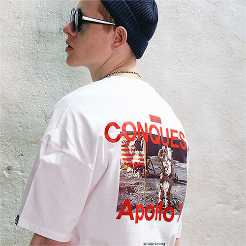[04/23] [TENBLADE] Apollo11 Graphic Print Tee_White