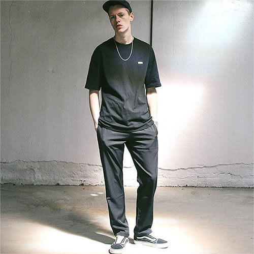 [TENBLADE] Wide Long Street Slacks_Black