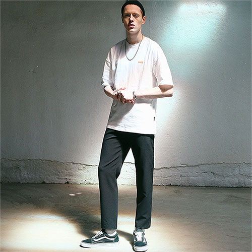 [TENBLADE] Ankle Street Slacks_Black