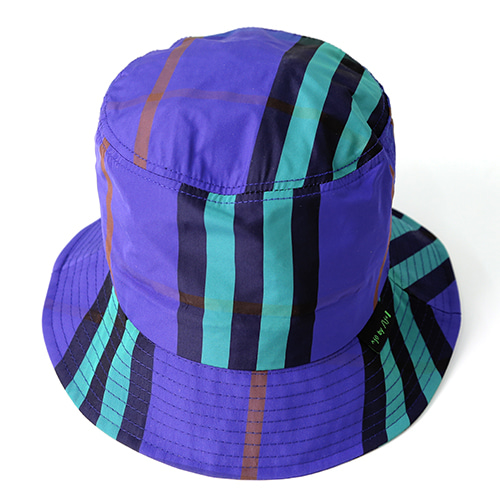 [AJOBYAJO] Check Bucket Hat [Purple]