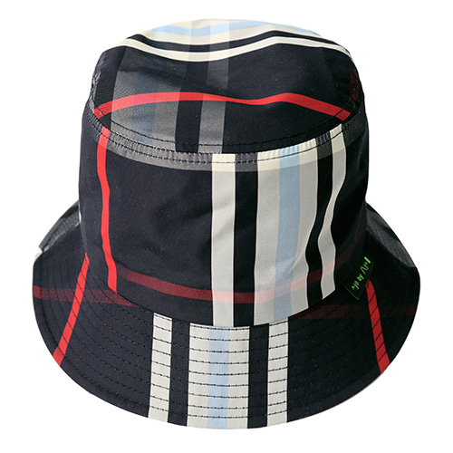 [AJOBYAJO] Check Bucket Hat [Navy]