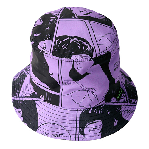 [AJOBYAJO] Manga Bucket Hat [Purple]