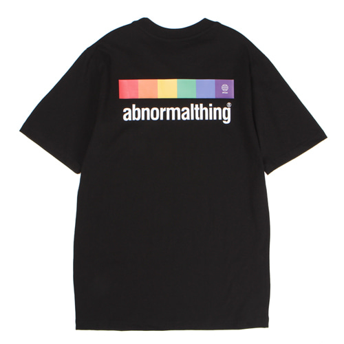 [앱놀머씽] Abnormal Rainbow T-Shirt (Black)