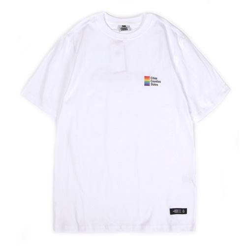 [앱놀머씽] Abnormal Rainbow T-Shirt (White)