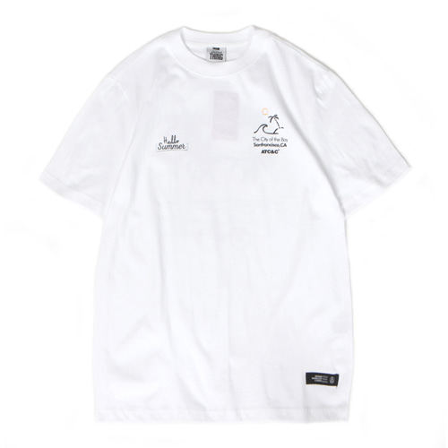 [앱놀머씽] Palmtree T-Shirt (White)