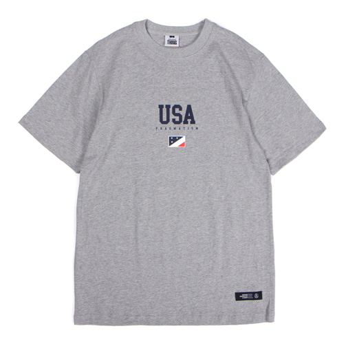[앱놀머씽] 18 USA T-Shirt (Gray)