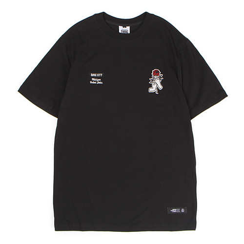 [앱놀머씽] Rose City T-Shirt (Black)