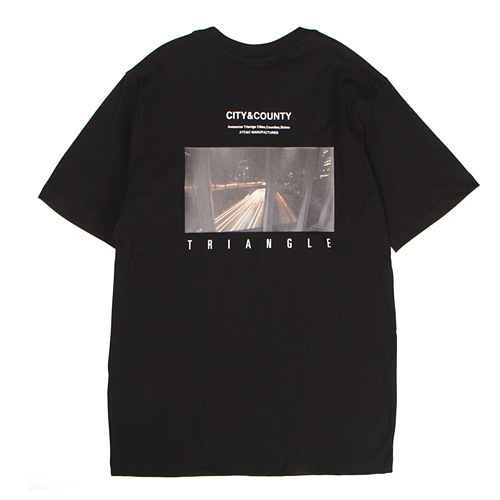 [앱놀머씽] Triangle T-Shirt (Black)