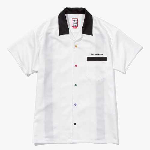 [Have a good time] Bowling Shirts - White