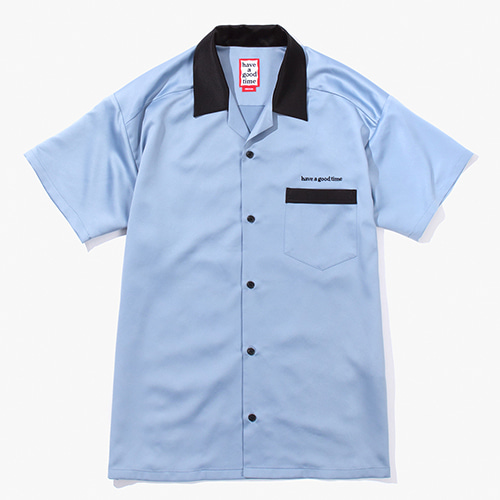 [Have a good time] Bowling Shirts - Light Blue