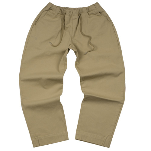 [LAMODECHIEF] LAMC TAPERED COTTON TROUSERS (BEIGE)