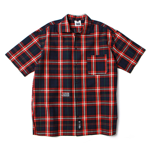 [앱놀머씽] Check Shirts (Red)