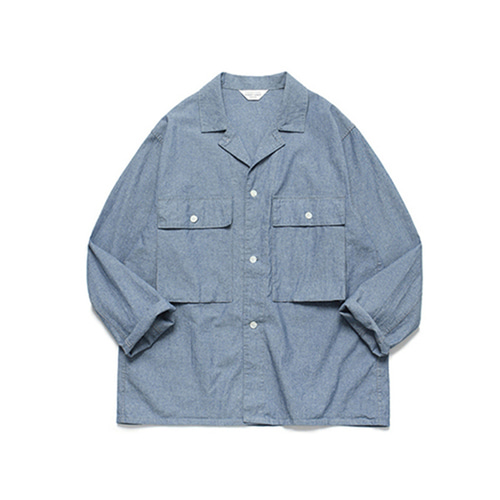 [LAFUDGESTORE]Ancho Wide Chambray Shirt